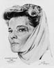 1968 (41st) Best Actress Volpe Sketch: Katharine Hepburn