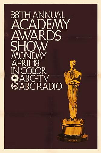1965 (38th) Academy Award Ceremony Poster