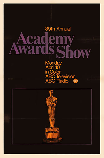 1966 (39th) Academy Award Ceremony Poster