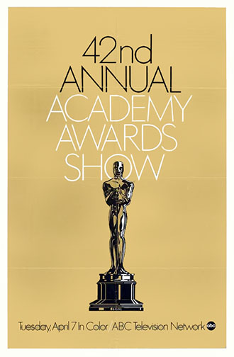 1969 (42nd) Academy Award Ceremony Poster