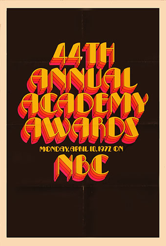 1971 (44th) Academy Award Ceremony Poster