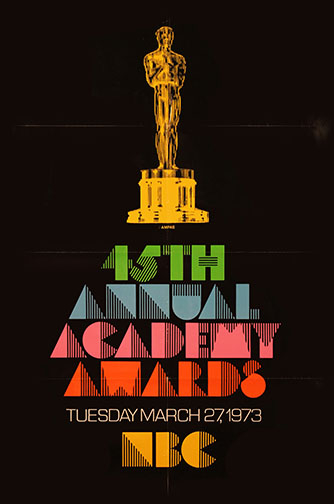 1972 (45th) Academy Award Ceremony Poster