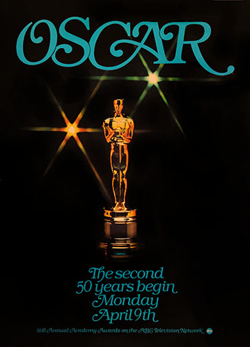 1978 (51st) Academy Award Ceremony Poster