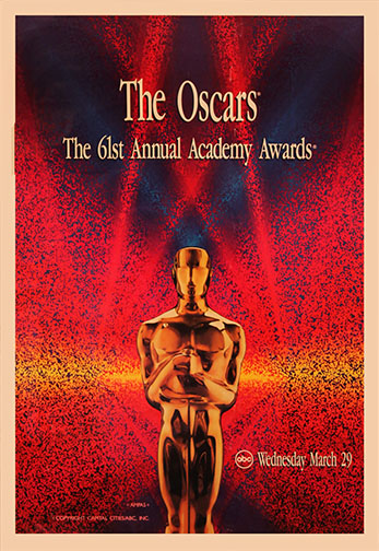 1988 (61st) Academy Award Ceremony Poster