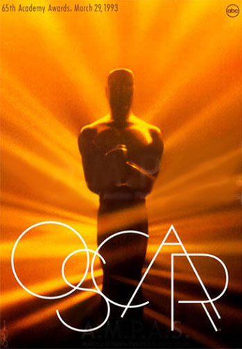 1992 (65th) Academy Award Ceremony Poster