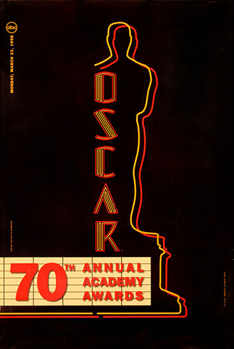 1997 (70th) Academy Award Ceremony Poster