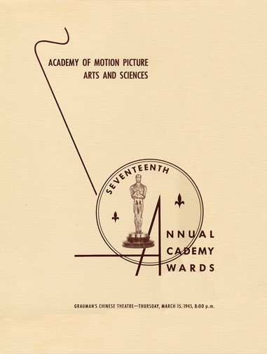 1944 (17th) Academy Award Ceremony Program