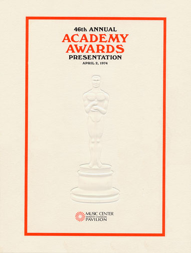 1973 (46th) Academy Award Ceremony Program