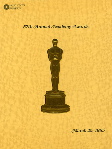 1984 (57th) Academy Award Ceremony Program