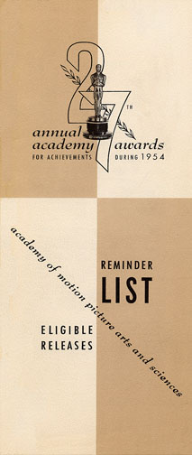 1954 (27th) Reminder List