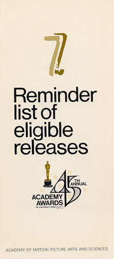 1972 (45th) Reminder List